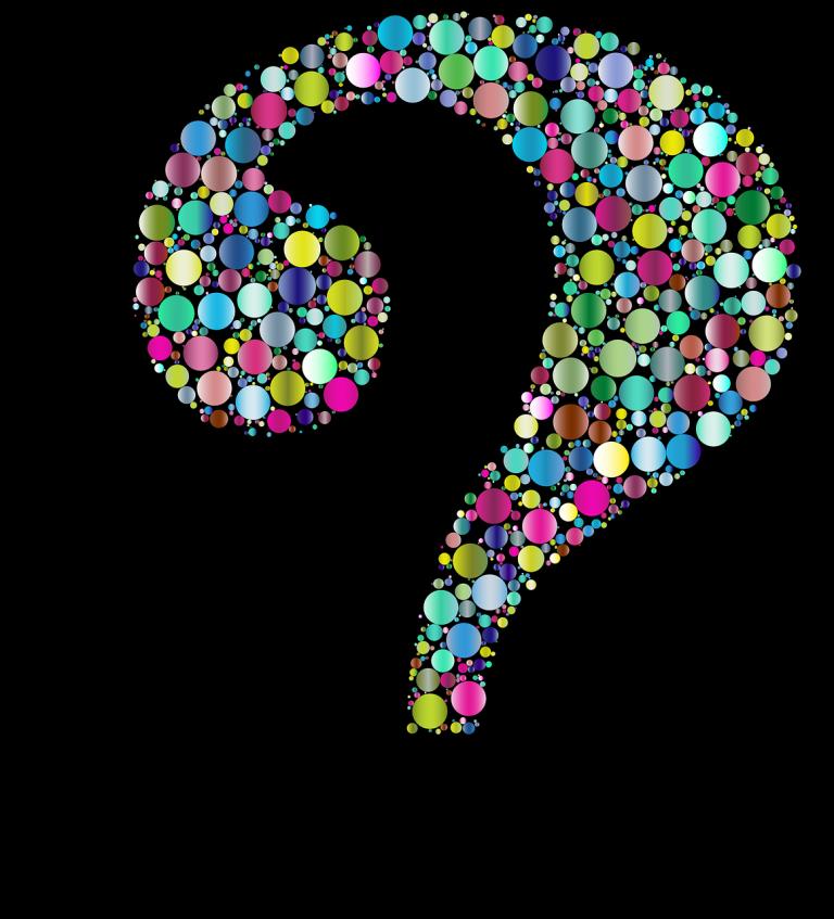Gehirn mit Fragen
